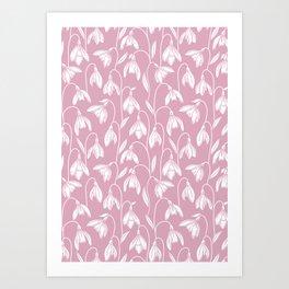 Snowdrop Floral Pattern Art Print