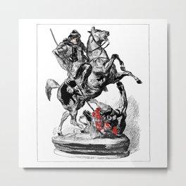 Fighting the Beast Metal Print