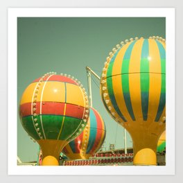 Up Up & Away II Carnival, fair, ride, amusement, whimsical, fun rainbow, adventure Art Print