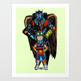 Boy and His Mech Art Print