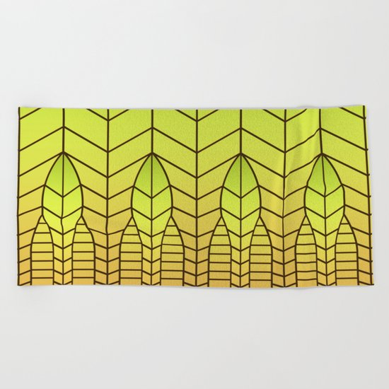 LET THERE BE LIGHT (abstract geometric) Beach Towel
