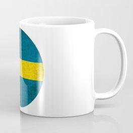 Sweden flag, circle Coffee Mug