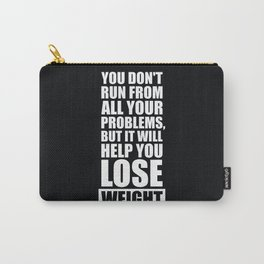 Lab No. 4 - It will help you lose weight Gym Workout Quotes Poster Carry-All Pouch