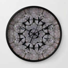 Gothic Romanesque Stone Architecture Mandala Pattern Wall Clock