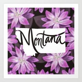 Montana - Bitterroot Art Print