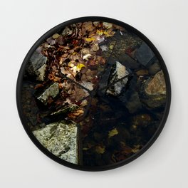 Autumn Colors in the Water Wall Clock