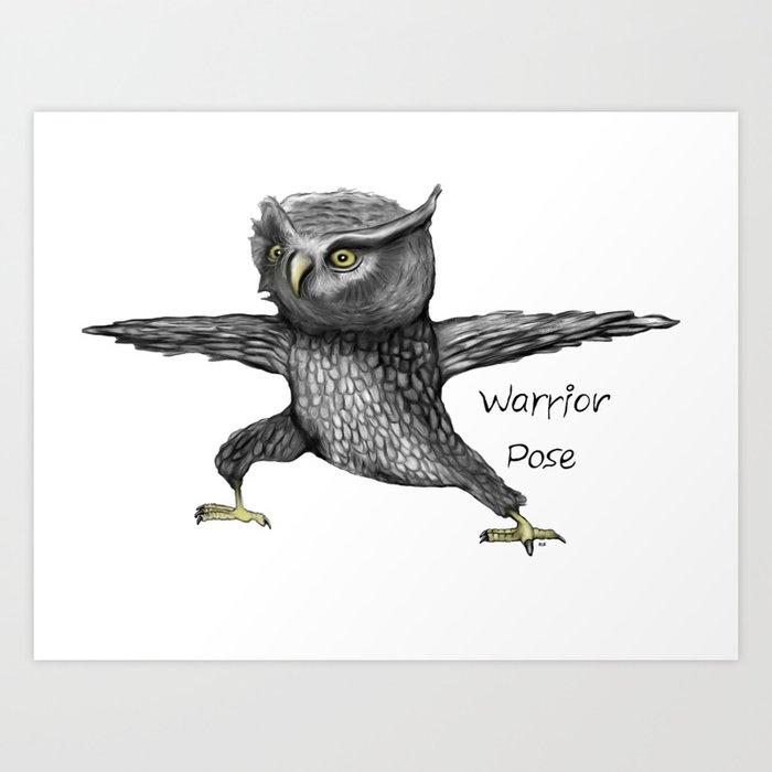 Warrior pose Art Print