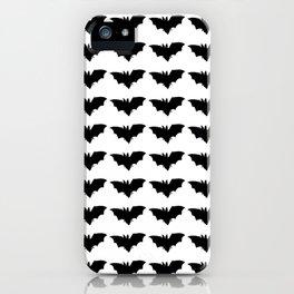 bat silhouette repeat pattern iPhone Case