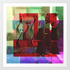 Inverse piñata process/ing, 2. Art Print