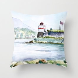 Stanley Park Vancouver Canada Throw Pillow