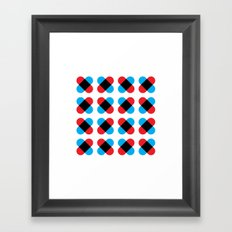 Cross pattern Framed Art Print