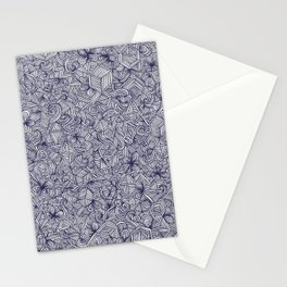 Held Together - a pattern of navy blue doodles Stationery Cards