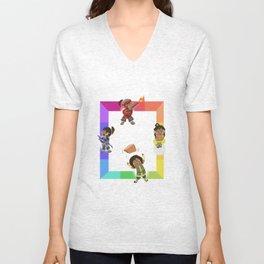 Chibi Rainbow Korra Unisex V-Neck