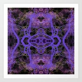 196 - Purple Trees night abstract design Art Print