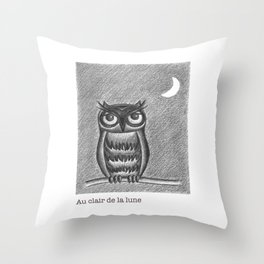 Au clair de la lune Throw Pillow