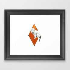 Monkey, geometric drawing Framed Art Print
