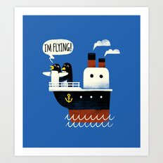 I'M FLYING! Art Print