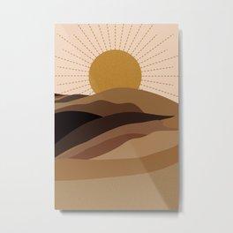 Desart Sun Metal Print
