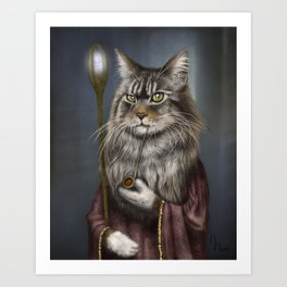 Wizard Cat Art Print