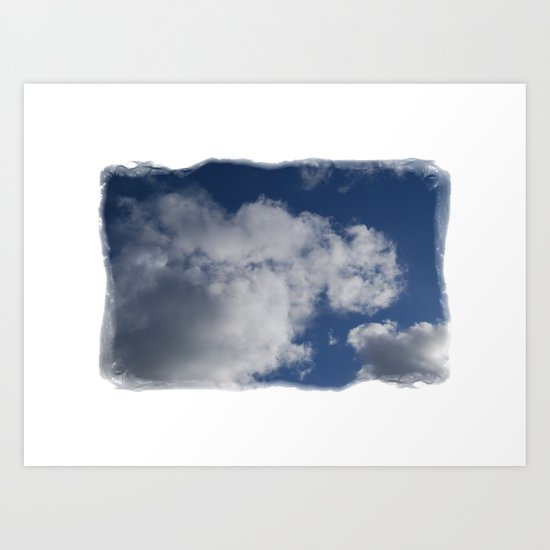 Clouds Over Hill Art Print