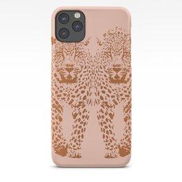Sunset Blvd Leopard - blush pink and coral original print by Kristen Baker iPhone Case