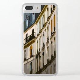 Paris Houses Clear iPhone Case