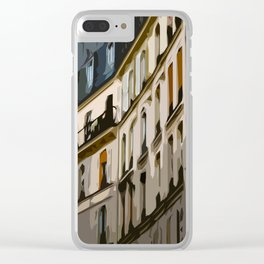 Paris Houses Clear iPhone Case