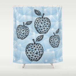 Abstract triangle apples with background Shower Curtain