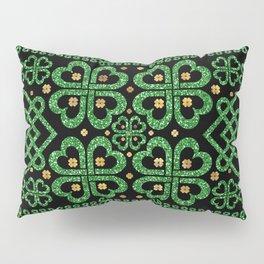 Shamrock Four-leaf Clover Celtic Ornament Pillow Sham