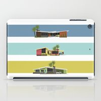 mid century modern iPad Cases featuring Mid Century Modern Houses 2 by MidPark Prints