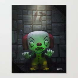 Clown Horror Canvas Print