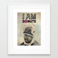 j dilla Framed Art Prints featuring J DILLA by Delano Limoen