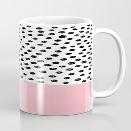 Pink Black Dalmation Polka Dots Coffee Mug