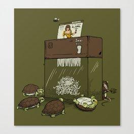 Turtles Fight Shredder Canvas Print