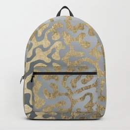 Modern elegant abstract faux gold silver pattern Backpack