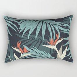 TEAL TROPICAL PATTERN Rectangular Pillow