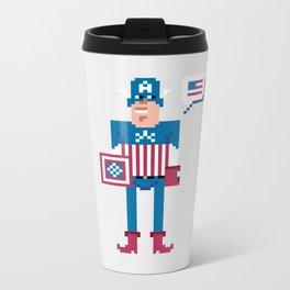 Pixel Captain Am Erica Metal Travel Mug