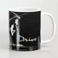 drive Mugs featuring Drive by Alex Cherry