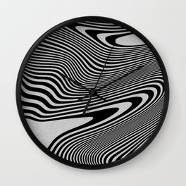 liquify line Wall Clock