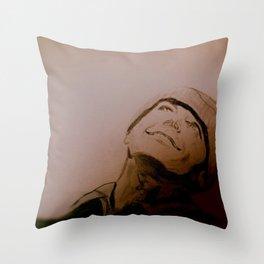 Jack Nicholson Graphite Original Portrait Throw Pillow