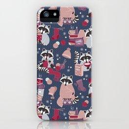 Hygge raccoon iPhone Case