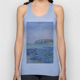 Shadows on the Sea at Pourville by Claude Monet Unisex Tank Top