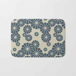 Blue Floral Japanese Pattern 2 Bath Mat