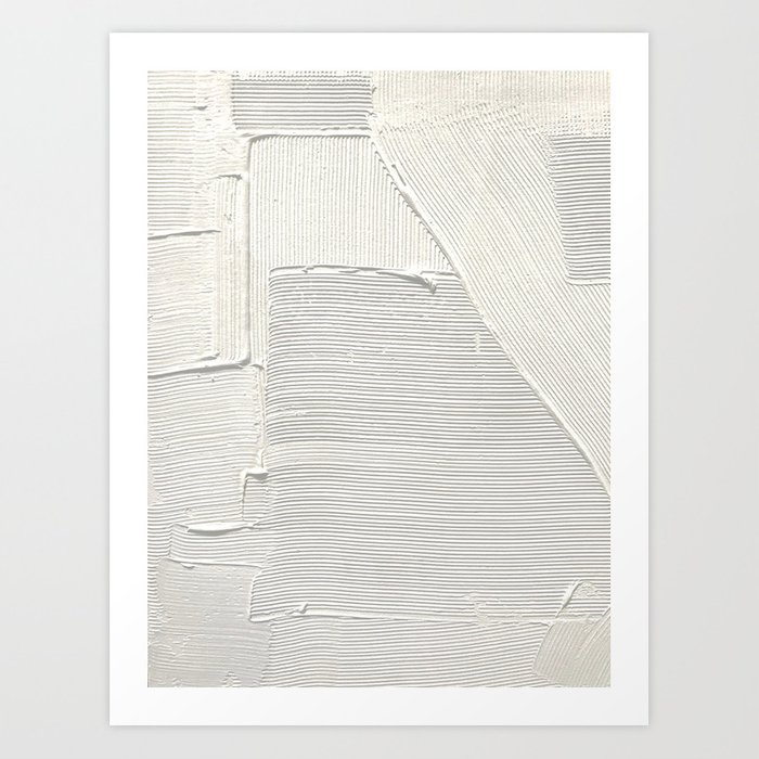 Relief [2]: an abstract, textured piece in white by Alyssa Hamilton Art Art Print