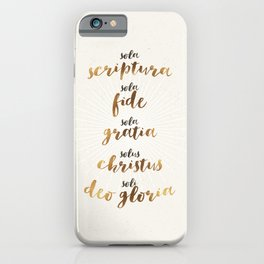 The Five Solas of the Reformation iPhone Case