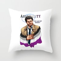 fandom Throw Pillows featuring Fandom Pride : Asexuality by Seraph Limonade