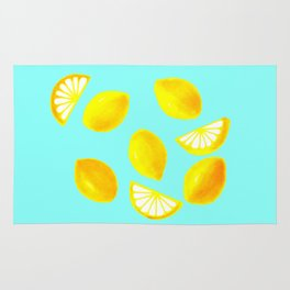 Lemons and Lemon Slices Rug