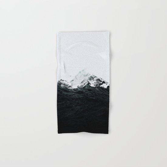 Those waves were like mountains Hand & Bath Towel