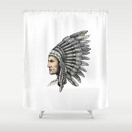 Native American Man Shower Curtain