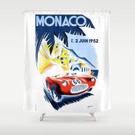 1952 Monaco Grand Prix Race Poster  Shower Curtain